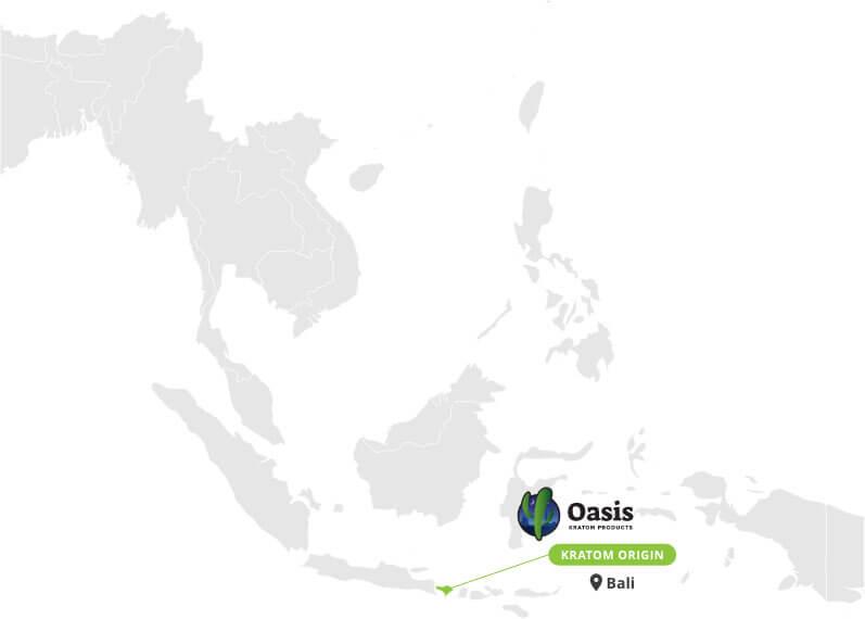 Origin of Red Bali Kratom Powder - By Oasis Kratom