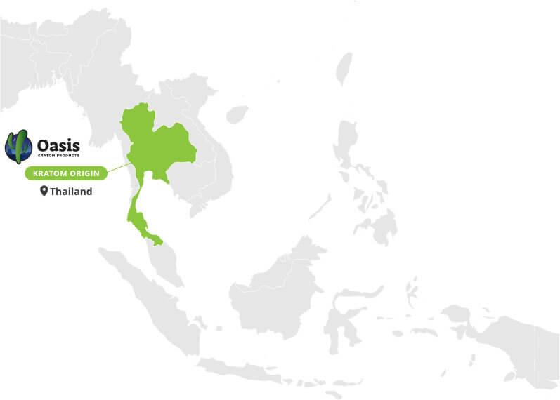 Origin of Red Thai Kratom Powder - By Oasis Kratom