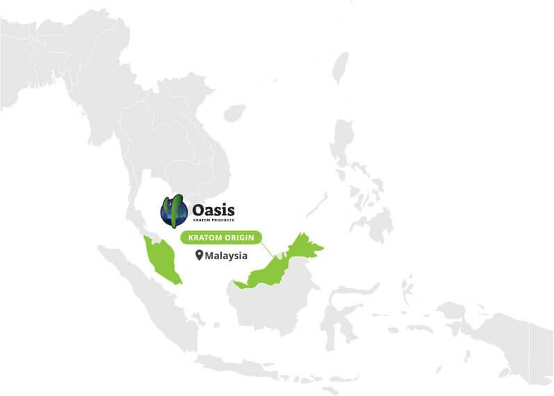 Origin of Green Malay Capsules - By Oasis Kratom