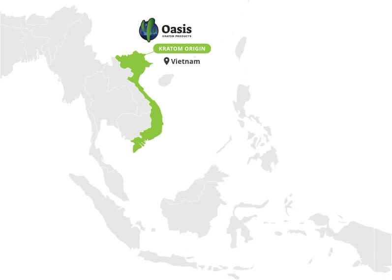 Origin of Red Vietnam Capsules - By Oasis Kratom