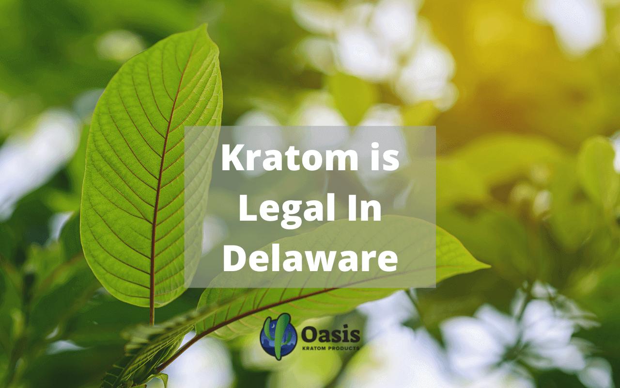 kratom is legal in Delaware