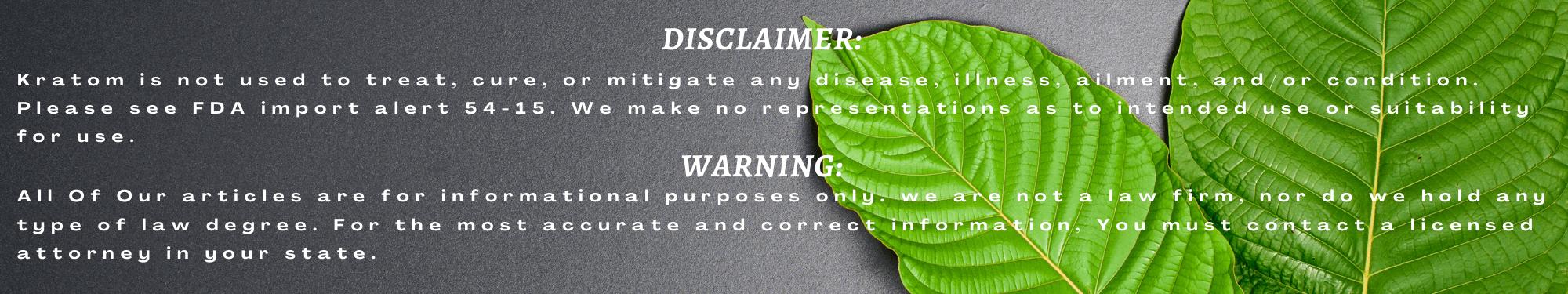 Disclaimer and Warning