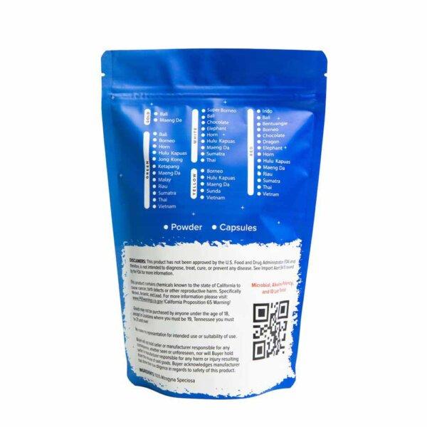Red Gold Kratom Powder - product packaging image - Oasis Kratom
